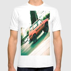 Vroom SMALL White Mens Fitted Tee