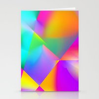 Expressionist Cubes Stationery Cards