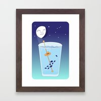 Waning Waterglass Moon - Submarine Framed Art Print
