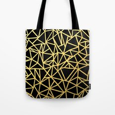 Abstract Outline Thick Gold Tote Bag