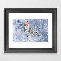 OWL IN CAP Framed Art Print