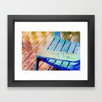 Rainy Day Blue Framed Art Print