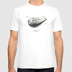Fig 1 SMALL White Mens Fitted Tee