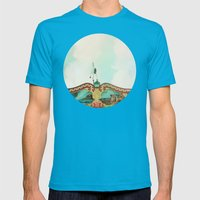 Summer Carousel Mens Fitted Tee Teal SMALL