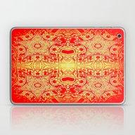 Red & Gold Stars Laptop & iPad Skin