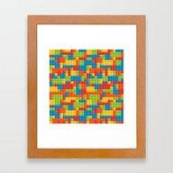 Colored Cubes Framed Art Print