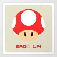 Grow Up! (Super Mario) Art Print