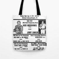 #3 Memphis Wrestling Window Card Tote Bag