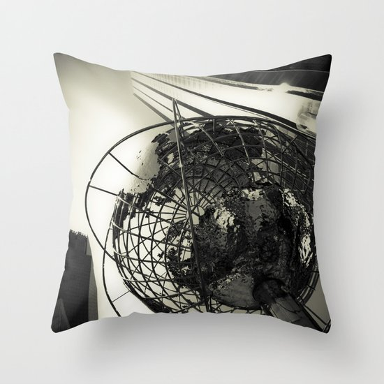 Columbus Circle Throw Pillow