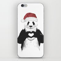 Santa Panda iPhone & iPod Skin