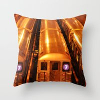 New York Queens Subway 7… Throw Pillow