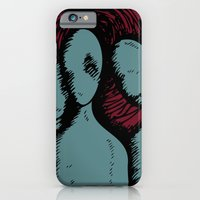 iPhone & iPod Case featuring Three by The Being art