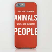 iPhone & iPod Case featuring If we stop caring for animals by NeilRobertLeonard