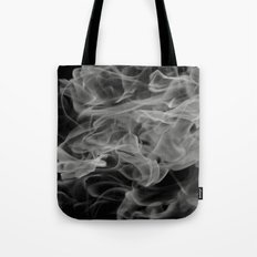 Whispers - Black and white abstract Tote Bag