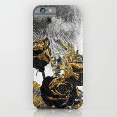 Flowers Bloom As Black As Night iPhone 6 Slim Case