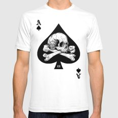 Ace Of Spades SMALL White Mens Fitted Tee