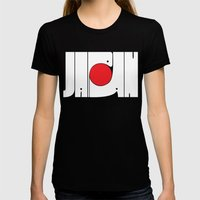 Japan Womens Fitted Tee Black SMALL