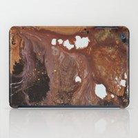 Copper abstract liquidity. iPad Case
