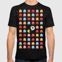 Pac-Man Trapped Mens Fitted Tee Tri-Black SMALL