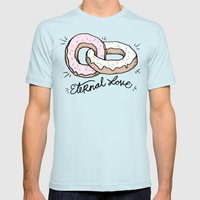 ETERNAL LOVE Mens Fitted Tee Light Blue SMALL