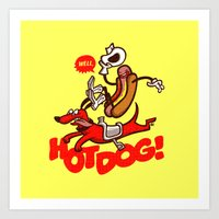 Hot Dog! Art Print