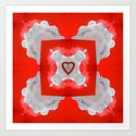 My heart on a cloud for you... Art Print