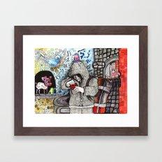 Just Escaped  Framed Art Print