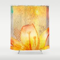 Fire Lily Shower Curtain