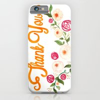iPhone & iPod Case featuring Floral Thanks by Tiny Pencil Studio: Illustration & Desig