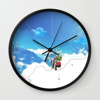 Experiment am Berg 35 Wall Clock