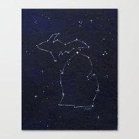 Mitten State Constellation Canvas Print