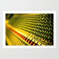 Buttons And Music Art Print