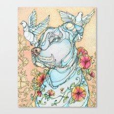 Peaceful Pitbull Canvas Print