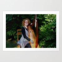 The Harp Player Art Print