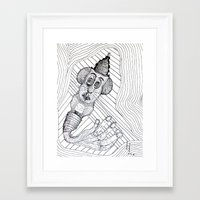 Mouse Fingers Framed Art Print
