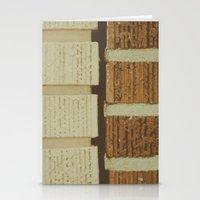 brick split Stationery Cards