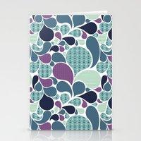 Sea pattern Stationery Cards