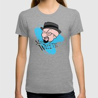 Mr. White Womens Fitted Tee Tri-Grey SMALL