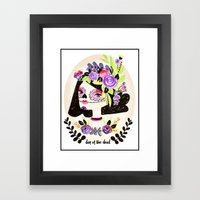 Day Of The Beautiful Dea… Framed Art Print