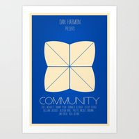 Community - Minimalist Movie Poster Art Print