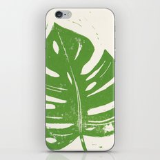 Linocut Leaf iPhone & iPod Skin