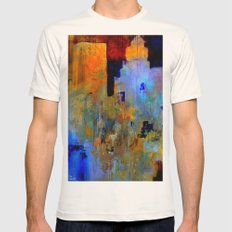 An autumn in Central Park Mens Fitted Tee Natural SMALL