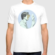 Mask White SMALL Mens Fitted Tee