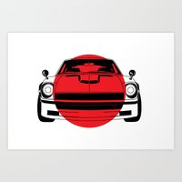 240Z - Japanese Flag Art Print