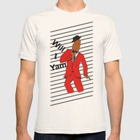 Will I Yam Mens Fitted Tee Natural SMALL