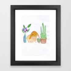 Rabbit cactus  Framed Art Print