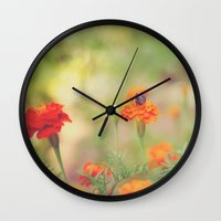 Summer Bee Wall Clock