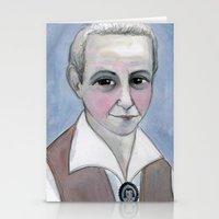 Gertrude Stein Literary Portrait Stationery Cards