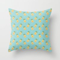 Kawaii Pineapple  Throw Pillow