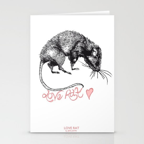 love rat Stationery Card